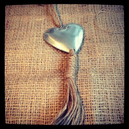 Hanging Tin Heart